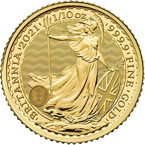 Moneta Britannica in oro puro da 10 sterline