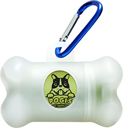 Pogi's Poop Bag Dispenser - Includes 1 Roll (15 Bags) - Scented, Biodegradable, Leak-Proof Dog Waste Bags