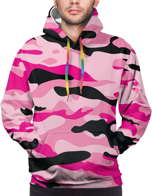Hoodie For Teens Boys Girls Pink Black Marble Print 3d Printed Hooded Sweatshirt