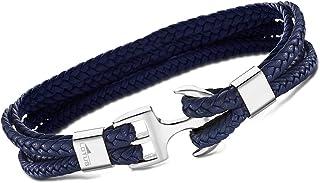 Style Pulsera Azul LS2006 – 2/2 trenzado hombre joyas piel jls2006 – 2 de 2