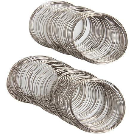 200pcs Jewelry Wire Memory Beading Wire Bracelet for Wire Wrap DIY Jewelry Making Supplies 01
