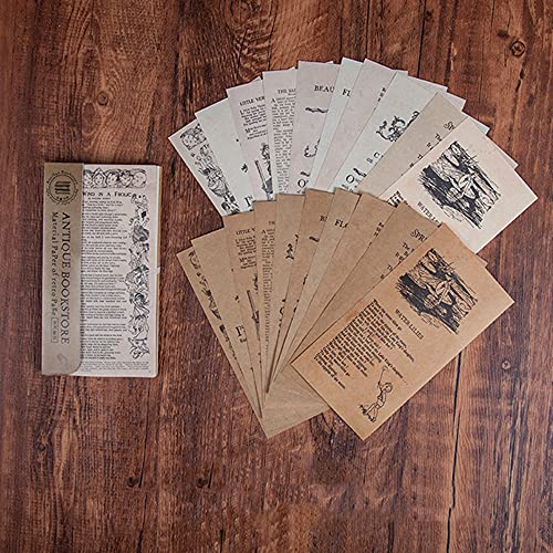 Morantsale 60 hojas vintage librería serie periódico material papel diario diario scrapbooking...