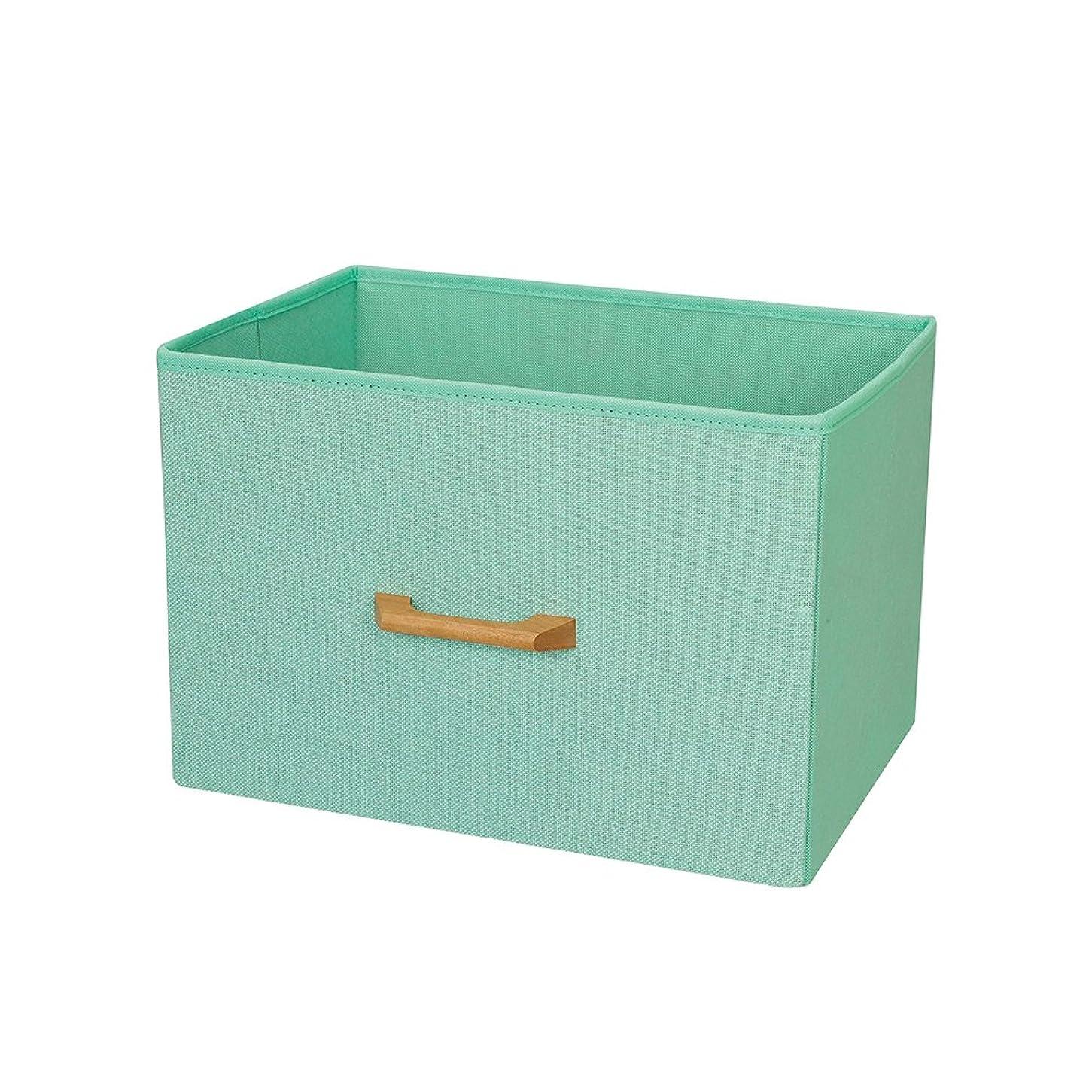 欠陥予防接種する苗カラーボックス 収納ボックス 縦置き 横型 木製ハンドル ミントグリーン 幅38×奥行26×高さ26cm NWH3826-MT