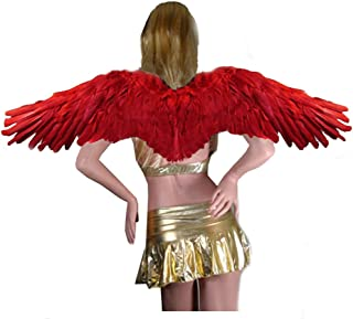 SACASUSA (TM Large Feather Halloween Angel Wings 3 Colors Black, White, Red