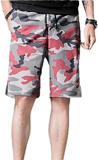 WSPLYSPJY Men's Plaid Pocket Elastic Waist Drawstring Beach Shorts Swim Trunks Shorts