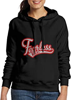 Nikki Bella Logo Fearless Women Pullover Hooded Hoodie Sweatshirt Black