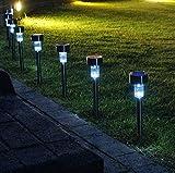 Preyank Solar 10 x Solar LED Light for Path Garden Outdoor Landscape Yard