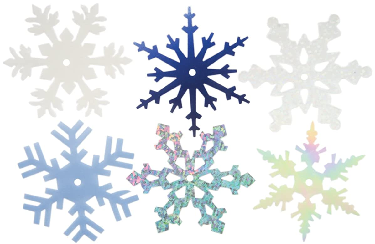 CREATIVE IMPRESSIONS CI63021 2-Inch Shimmer Snowflakes, Large, 50 Per Package