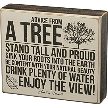 Primitives by Kathy Box Sign — Advice from a Tree — 7  x 6