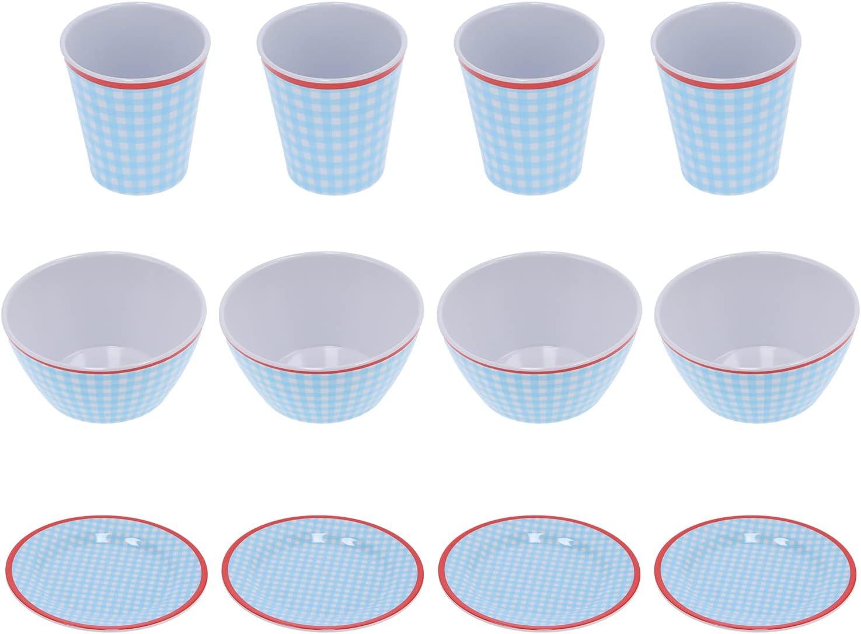 Tableware Fruit Plate-12Pcs Set Household Light Max 49% OFF Max 59% OFF Blue Dinnerware