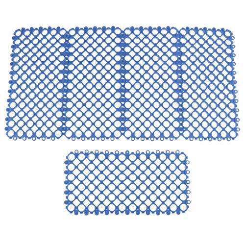 Neuer 5pcs Plastikteppich Für Kleine Haustier Kaninchen Meerschweinchen Hamster Käfig Füße - Blau