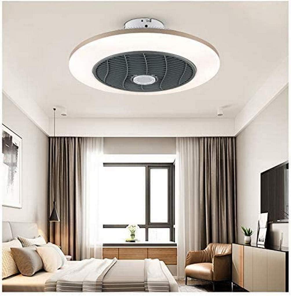 Ventilador de techo LED con iluminación Control remoto Ventilador Luz Ventilador frío y cálido Lámpara de techo Pantalla de acrílico Dormitorio de 3 velocidades Lámpara de sala de estar regulable Vent