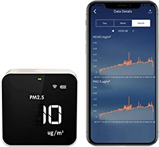 Temtop M10i WiFi Air Quality WiFi Monitor for PM2.5 HCHO TVOC AQI Professional Electrochemical Sensor Detector Real Time Display