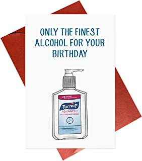 Alcohol Quarantine Card,Social Distancing Cards,Funny Birthday Card for Him Her Friend