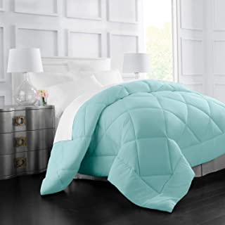 Italian Luxury Goose Down Alternative Comforter - All Season - 2100 Series Hotel Collection - Luxury Hypoallergenic Comforter - Full,Queen - Aqua