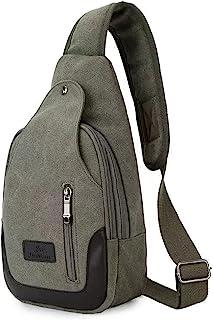 Canvas Chest Bag For Men, Leisure Cycling Mountain Climbing Sports Shoulder Bag Diagonal Bag Backpack