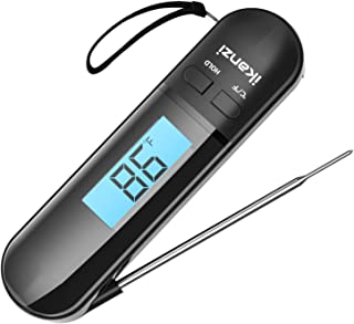 Instant Read Meat Thermometer Food Thermometer - Digital Instant Read Kitchen Cooking Thermometer with Backlight LCD for G...