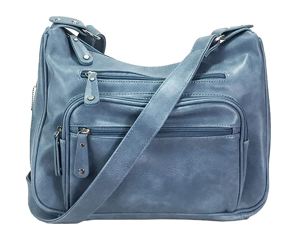 Zzfab Fashion Locking Concealed Carry Big Hobo Bag CCW Cross Body Bag with Credit Card Slots pzw8079109
