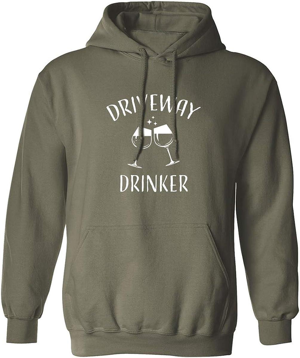 Driveway Drinker-Wine Adult Hooded Sweatshirt