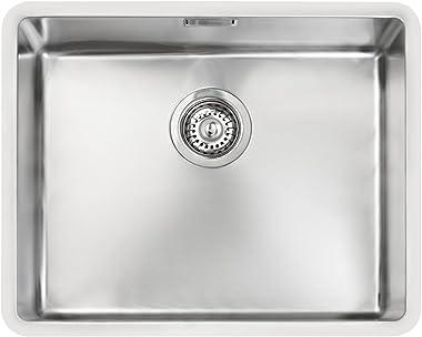 Franke 10125134 BE Linea 500/400 - Fregadero de cocina con tazón individual, color gris