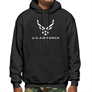Men's Air Force Symbol Polyester Hooded Hoodie Casual Thin Sweatshirts