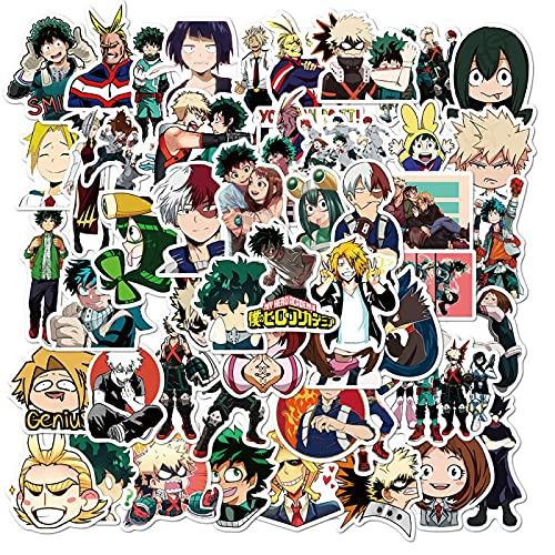 100/50 pegatinas My Hero Academia para portátil, monopatín, Izuku Midoriya Might, Boku No Hero Academia, anime, 50 unidades, andomo