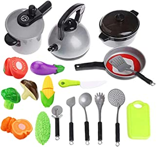Kitchen Toy Cookware set - Pretend Kitchen Play Toys,Kitchen Set for Kids,Cooking Play Set,Learning Toys for 2 3 4 Years Old Girls, Boys