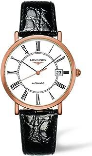 Longines Presence Automatic 18k Rose Gold Mens Strap Watch White Dial Calendar L4.787.8.11.0