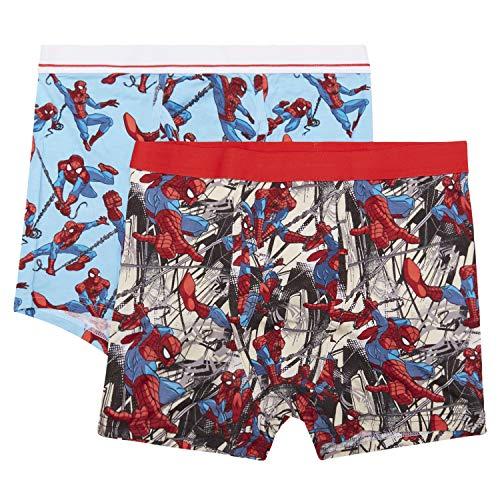 Marvel Mens Comics Boxer Briefs - Spiderman Mens Underwear - 2 Pack Boxer Briefs (Spiderman Multi, Large)