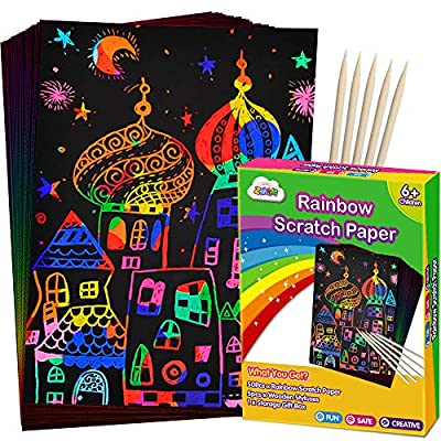 Scratch Paper Art Set 50 Piece Rainbow Magic 05032021021711