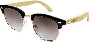 Brakets - Gafas de sol Hombre/Mujer Gafas de sol con patilla de Madera de bambú // Protección UV400 // Cristal Oscuro