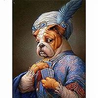 大人のためのジグソーパズル300ピース犬の保持カード木製パズルは家族のためにリラックスする自由な時間を設定します
