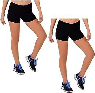 Stretch is Comfort Girl's Dance Cheer Gymnastics Metallic Booty Shorts