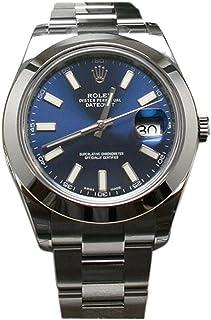 Rolex Datejust II 41 Blue Dial Index Dial Steel Mens Watch 116300