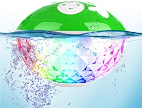 Waterproof Portable Bluetooth Speaker,Blufree Wireless Shower Speaker with Light Show,Built-in Mic,50ft Wireless Range,IPX...