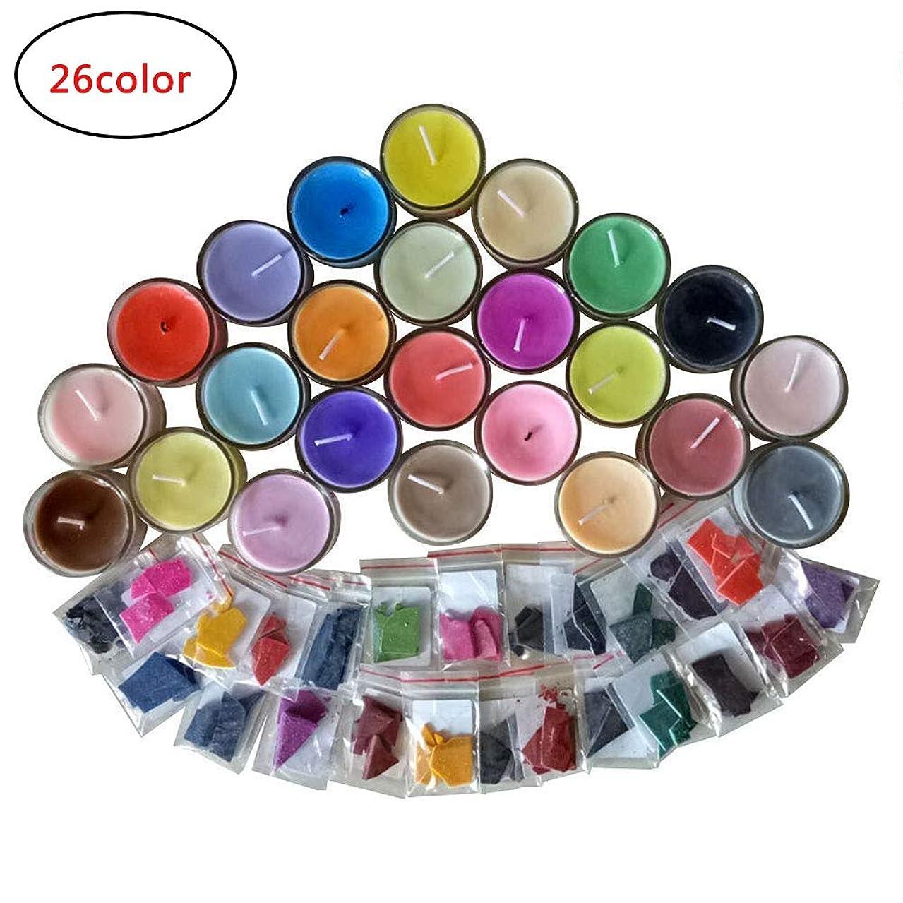 LFM Wax Dye-DIY Candle Dye-Dye Flakes for Candle Making Dye Kit-Soy Dye for Candle Molds-26 Dye Colors-0.15 Ounce Each Color