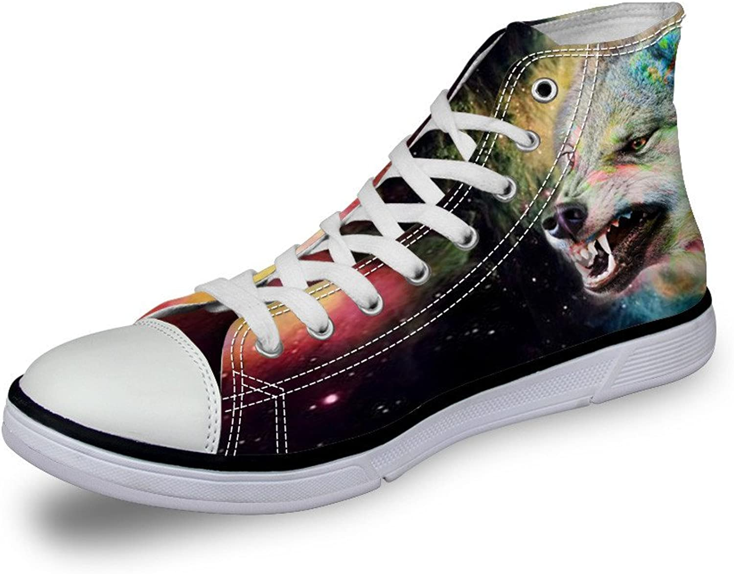 coloranimal Lightweight Women High Top Canvas shoes Universe Animal Prints Sneakers