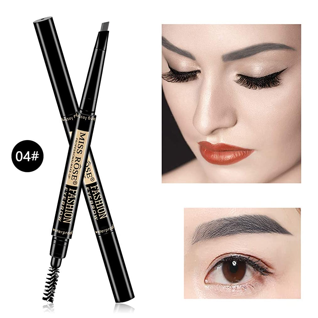 Eyebrow Pencil 2 in 1 Waterproof Smudge-proof Brow Pencil with Brow Brush Automatic Eye Brow Makeup Eyebrow Pen Pencil Long Lasting 6 Colors for Women/Men/Girls