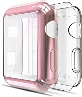Simpeak 2-Pack Funda Compatible para Apple Watch 38mm 2 Pcs,