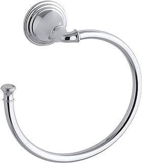 KOHLER Devonshire Bathroom Towel Ring Hand Towel Holder, Polished Chrome, K-10557-CP