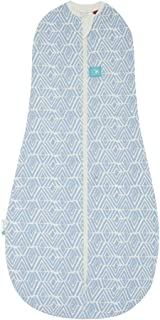 ergoPouch 1.0 Tog Swaddle and Sleep Bag, Tribal Blue, 0-3 Months
