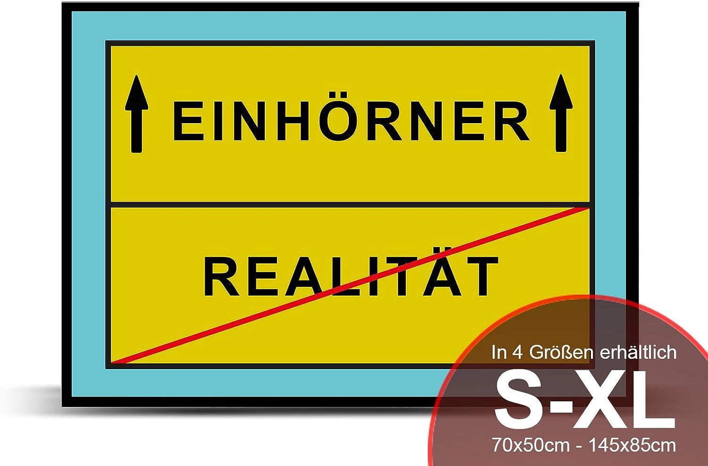 Printalio - Richtung Einhorn - - - Schmutzmatte Bodenvorleger Fussmatte Türmatte Abtreter Abstreifer gummierter Rand Rutschfest waschbar individuell   115 cm x 85 cm B01MFCM9EQ cd310b