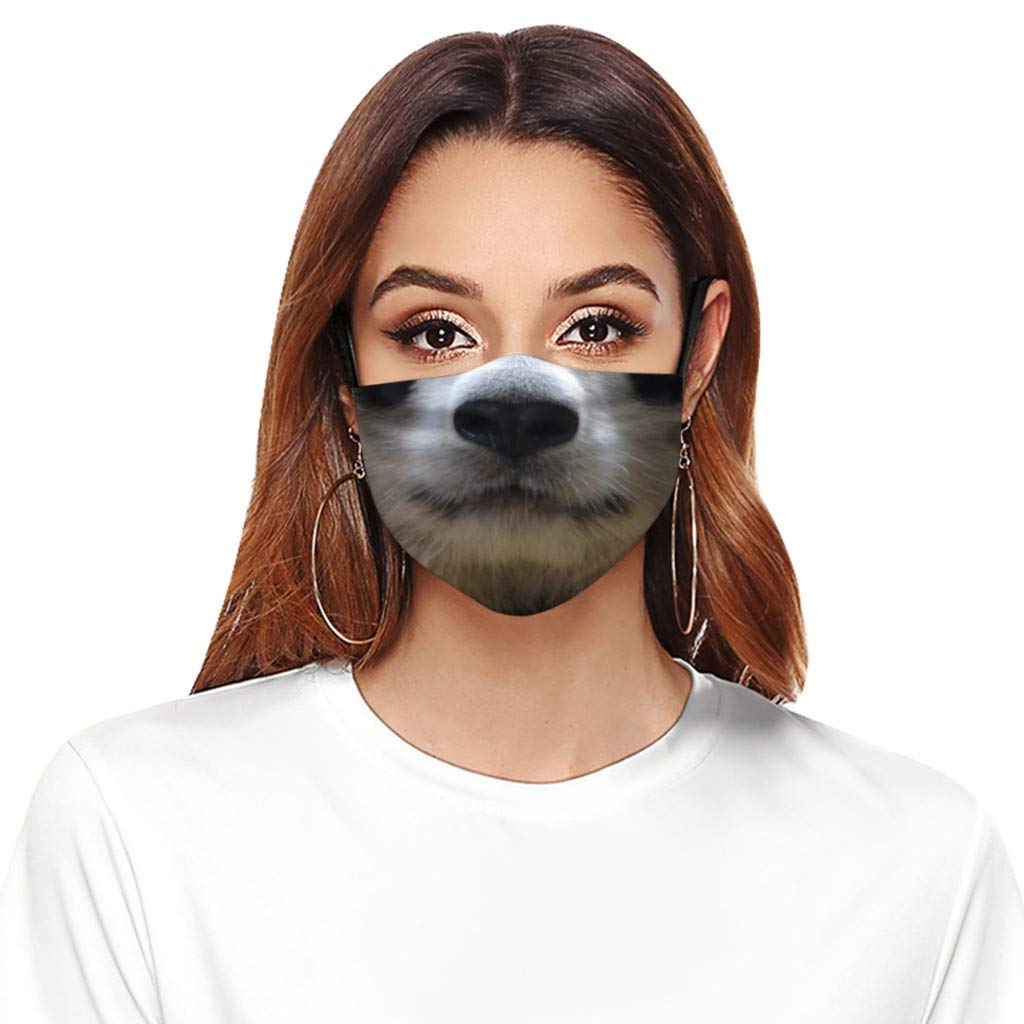 BBZUI Unisex Adjustable service Reusable Factory outlet Face_masks Printed Animal Comfo