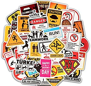 50pcs sign Luggage Decal Graffiti Patches Skateboard Stickers for Laptop Stickers ks