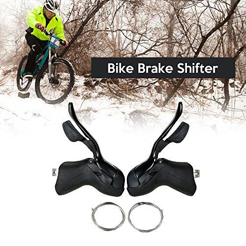 Walmeck- Bike Shifter Lever Umwerfer Set 7S / 8S / 9S / 10S Rennrad Bremshebel Extra Innenverschiebungskabel