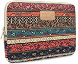 Kinmac New Bohemian Canvas Neoprene Waterproof Laptop Sleeve Case Bag 13 Inch for 13.3 inch laptop