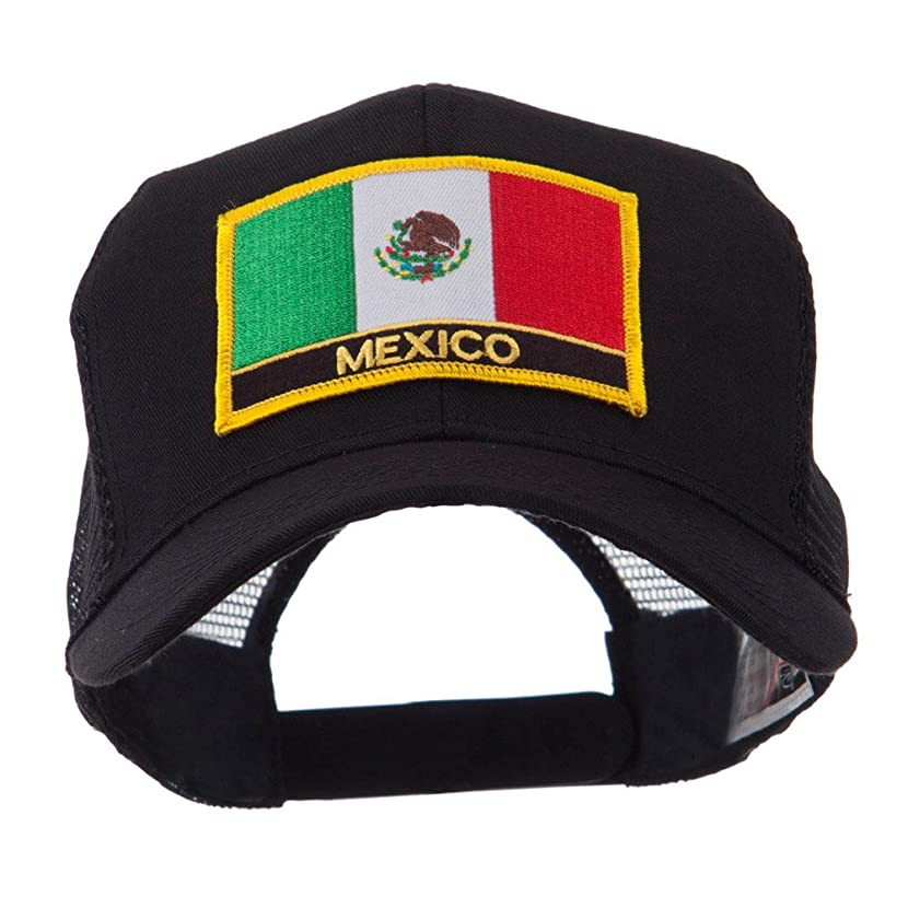 North and South America Flag Letter Patched Mesh Cap - Mexico W42S52F