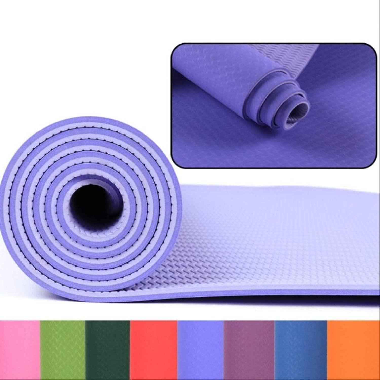 JKL Indien Tpe Rutschfeste Yogamatte 6 Mm für Fitness Yoga Sportmatte Gymnastik Abnehmen Matten Balanceth Pad Pilates Yogamat,Grün