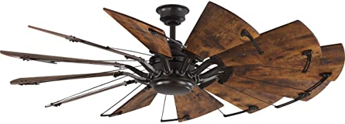 new arrival Springer Collection 60-Inch sale 12-Blade Distressed Walnut Coastal online sale Windmill Ceiling Fan online