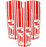 Top Rated 30 Popcorn Boxes 7.75 Inches Tall & Holds 46 Oz. Old Fashion Vintage Retro Design Red & White Colored Nostalgic Carnival Stripes like Popcorn Bags & Popcorn Tubs [various quantities] Salbree